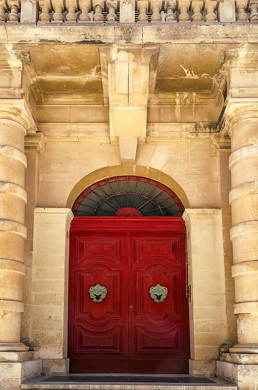 Architecture Poster featuring the photograph Red Door by Maria Coulson