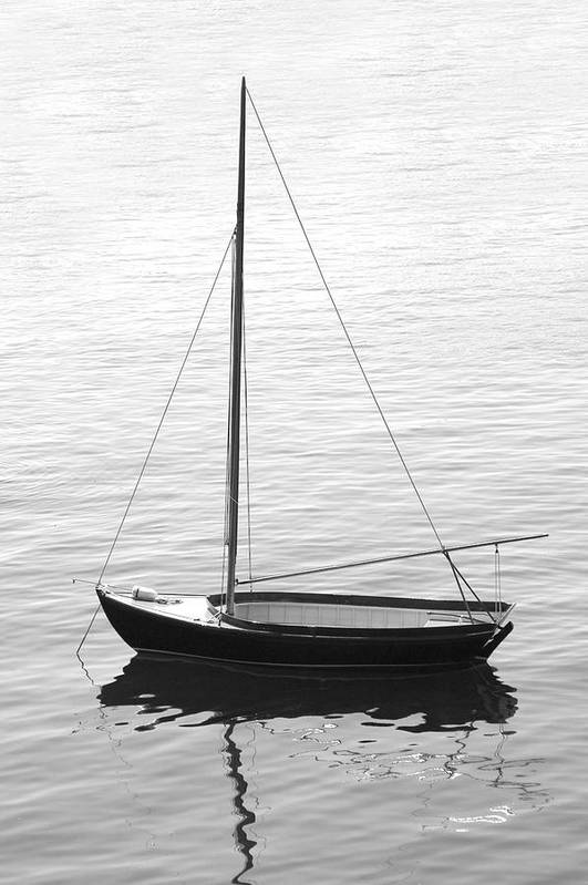 Sail Boat Poster featuring the photograph Sail Boat In Maine by Mike McGlothlen
