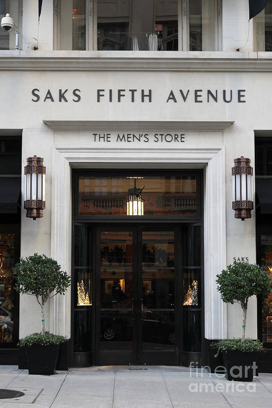 San Francisco Poster featuring the photograph San Francisco Saks Fifth Avenue Store Doors - 5d20574 by Wingsdomain Art and Photography