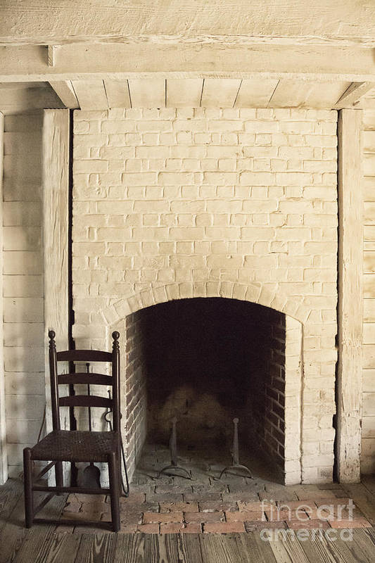 Chair Poster featuring the photograph Seat By The Hearth by Margie Hurwich