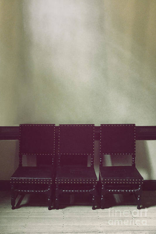 Chairs Poster featuring the photograph Seating For Three by Margie Hurwich
