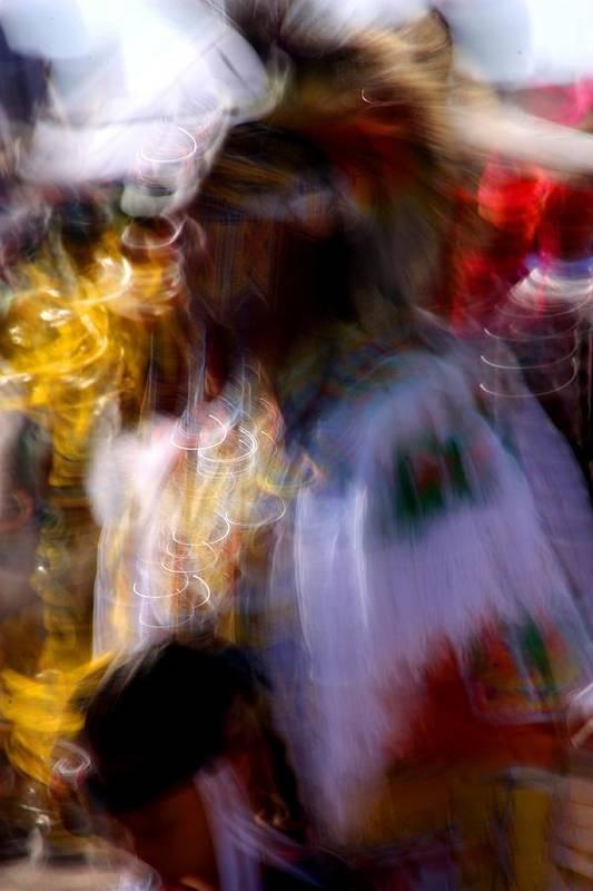 Pow Wow Poster featuring the photograph Spirits 2 by Joe Kozlowski