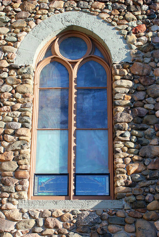 Window Poster featuring the photograph St. Augustine Window by Mary Bedy