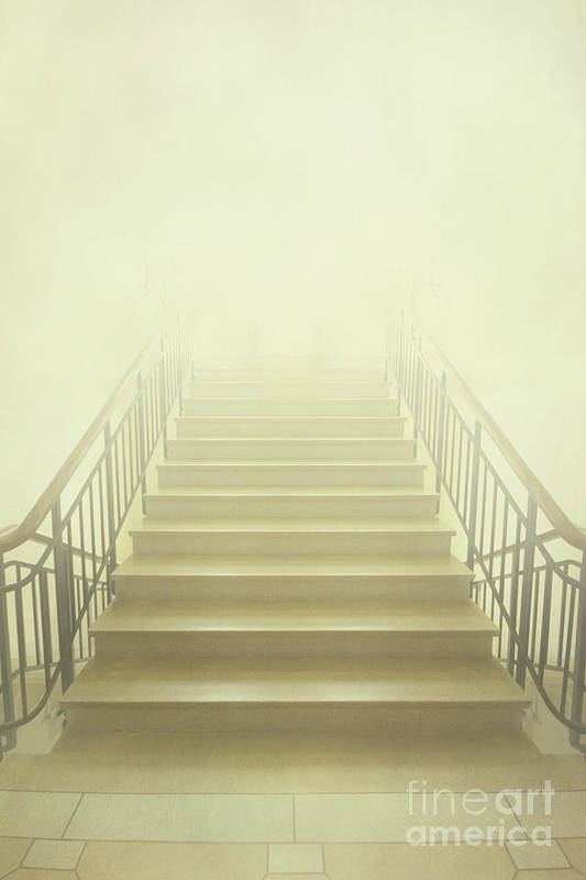 Ahead Poster featuring the photograph Stairway To Heaven by Evelina Kremsdorf