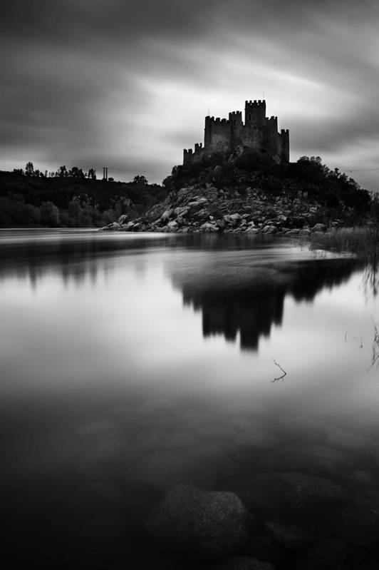 Castle Poster featuring the photograph The Almourol Castle by Jorge Maia