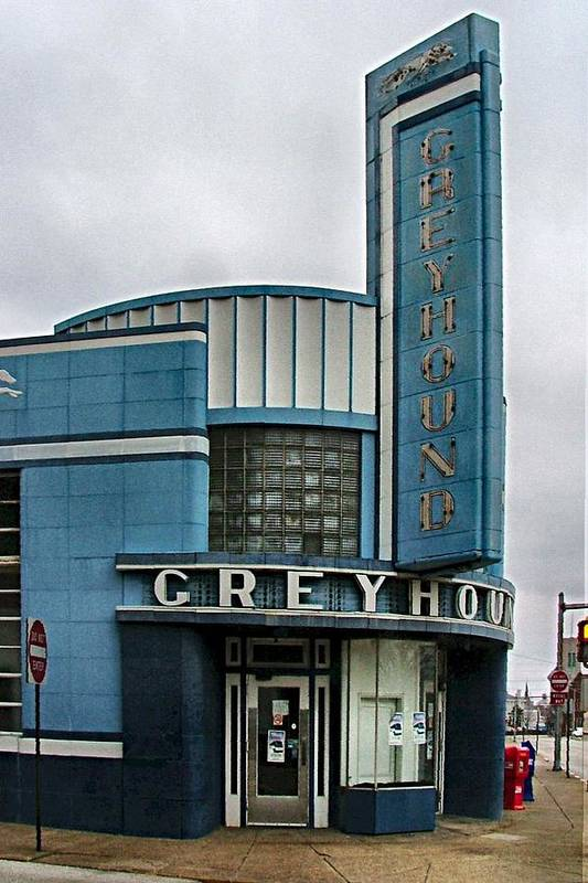 Old Bus Stations Poster featuring the photograph The Greyhound Bus Station by Julie Dant