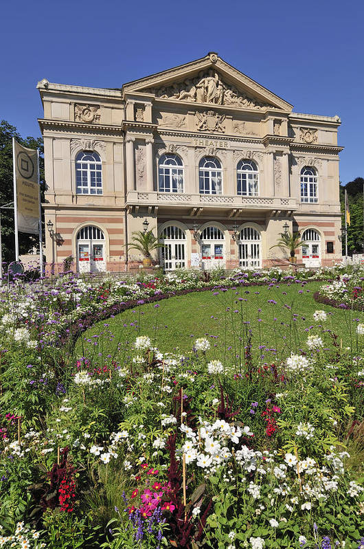 Baden-baden Poster featuring the photograph Theater Building Baden-baden Germany by Matthias Hauser