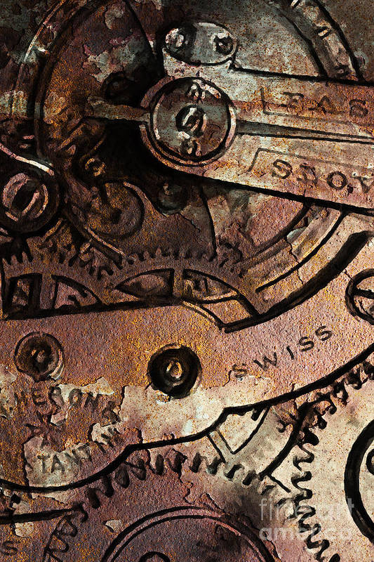 Steampunk Poster featuring the photograph Time In Abstract 20130605rust by Wingsdomain Art and Photography