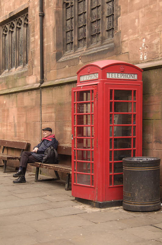 Telephone Booth Poster featuring the photograph Waiting On A Call by Mike McGlothlen