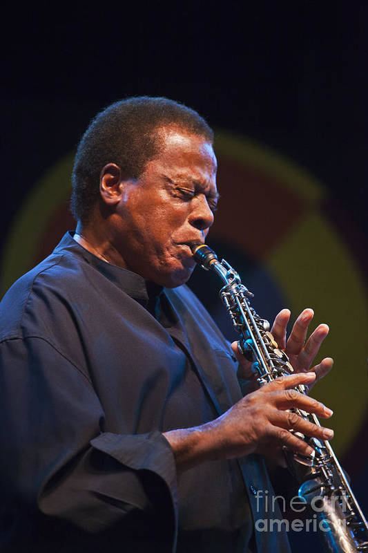 Vertical Poster featuring the photograph Wayne Shorter Plays by Craig Lovell