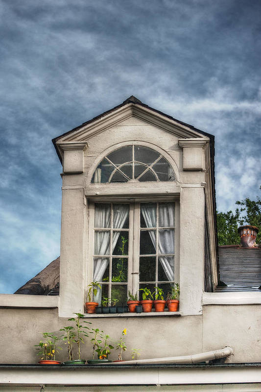 Dormer Poster featuring the photograph Window Garden by Brenda Bryant