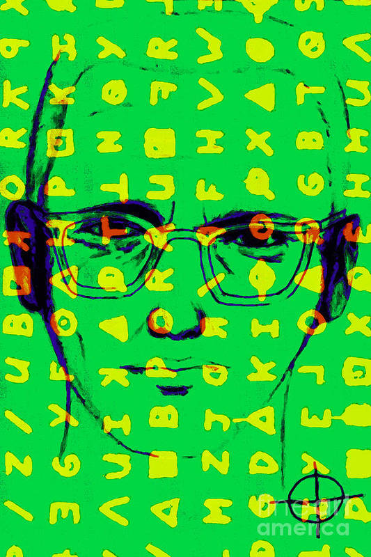 Zodiac Poster featuring the photograph Zodiac Killer With Code And Sign 20130213 by Wingsdomain Art and Photography
