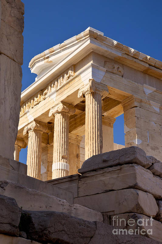 Acropolis Poster featuring the photograph Acropolis Temple by Brian Jannsen