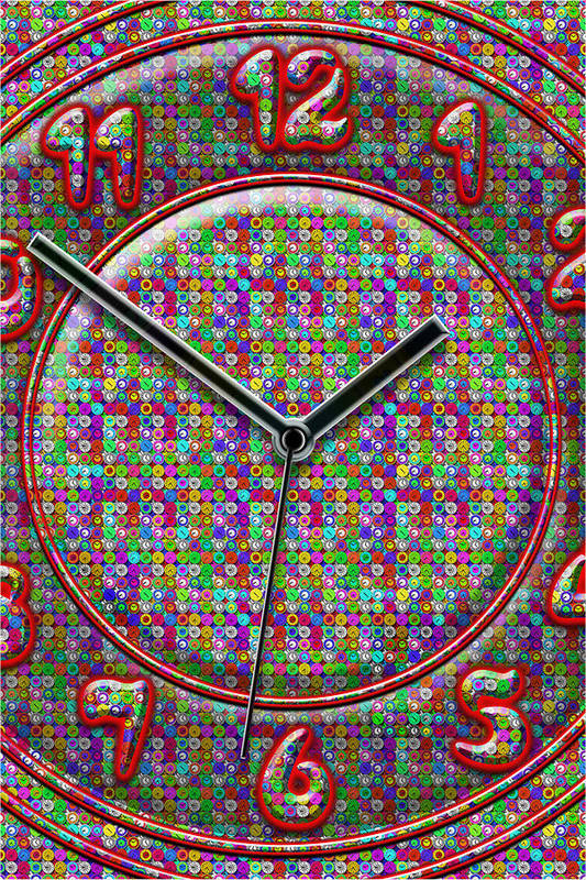 Large Colorful Art Poster featuring the digital art Faces Of Time 2 by Mike McGlothlen