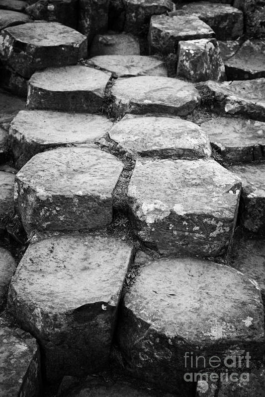 Northern Ireland Poster featuring the photograph Giants Causeway Stones Northern Ireland by Joe Fox