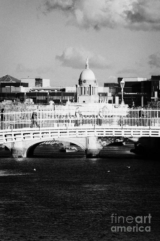 Dublin Poster featuring the photograph River Liffey Dublin City Center by Joe Fox