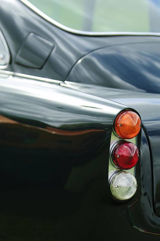 1963 Aston Martin Db4 Series V Vantage Gt Poster featuring the photograph 1963 Aston Martin Db4 Series V Vantage Gt Tail Light by Jill Reger