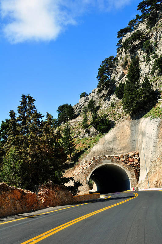 Mountain Poster featuring the photograph Mountain Tunnel. by Fernando Barozza