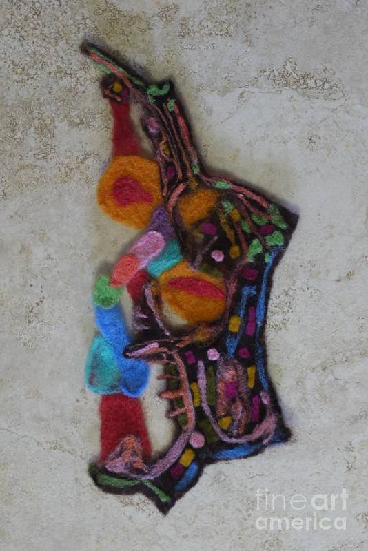 Abstract In Wool Poster featuring the tapestry - textile Abstract In Wool A by Heather Hennick
