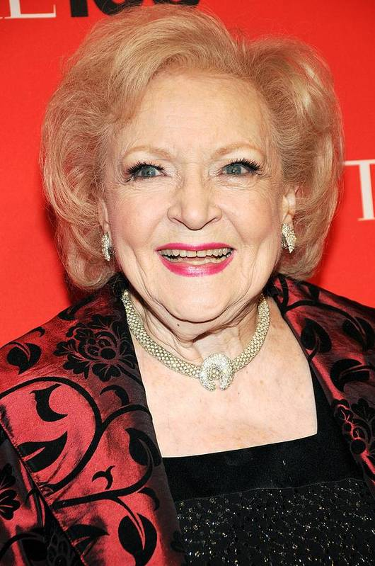 Betty White Poster featuring the photograph Betty White At Arrivals For Time 100 by Everett