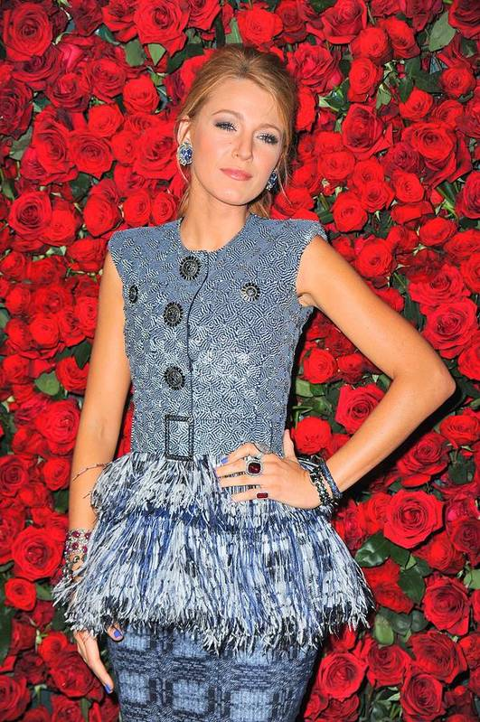 Blake Lively Poster featuring the photograph Blake Lively Wearing A Chanel Couture by Everett