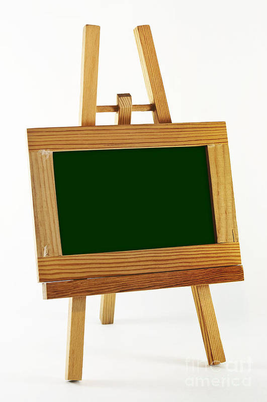 Frame Poster featuring the photograph Blank Chalkboard In Wood Frame by Blink Images