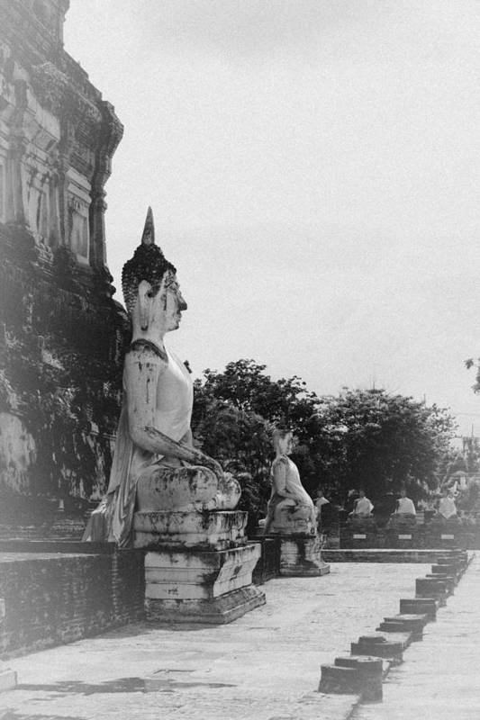 Thailand Poster featuring the sculpture Buddha Statue by Thosaporn Wintachai
