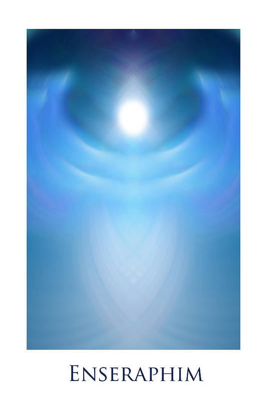 Urantia Poster featuring the digital art Enseraphim by Jeff Haworth