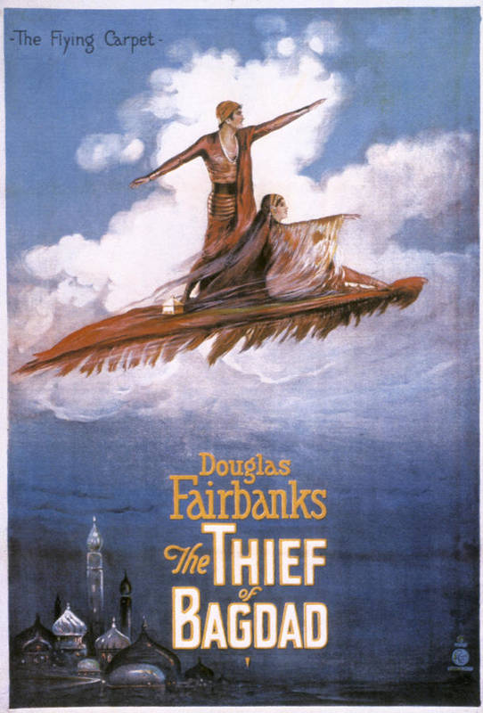 -nec05- Poster featuring the photograph Film: The Thief Of Bagdad: by Granger