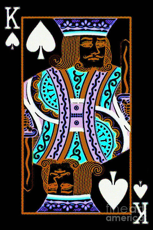 Card Poster featuring the photograph King Of Spades by Wingsdomain Art and Photography