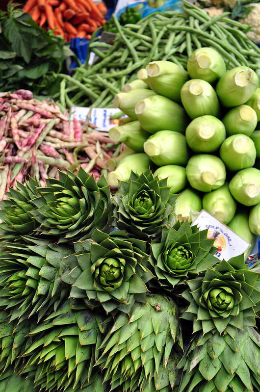 Artichoke Poster featuring the photograph Mixed Vegetables. by Fernando Barozza