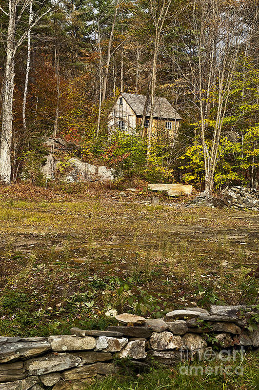Remote Mountain Cabin Poster featuring the photograph Mountain Cabin by John Greim