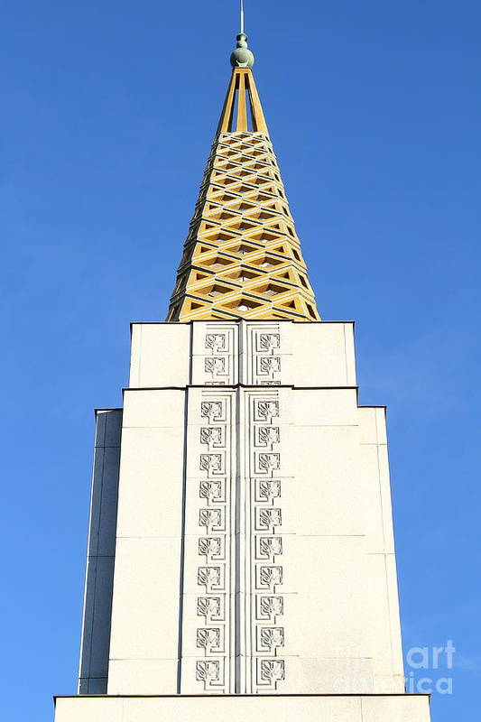 Bayarea Poster featuring the photograph Oakland California Temple . The Church Of Jesus Christ Of Latter-day Saints . 7d11339 by Wingsdomain Art and Photography