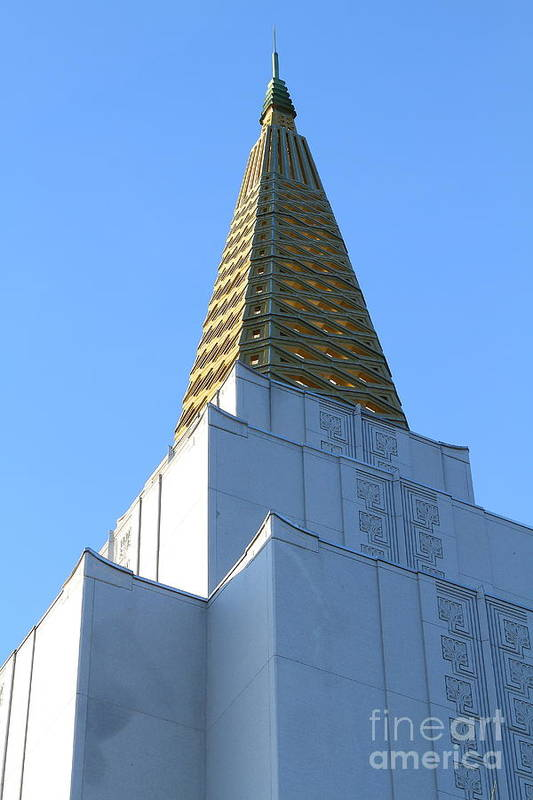 Bayarea Poster featuring the photograph Oakland California Temple . The Church Of Jesus Christ Of Latter-day Saints . 7d11358 by Wingsdomain Art and Photography