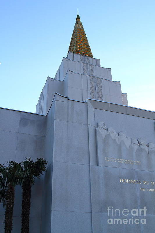 Bayarea Poster featuring the photograph Oakland California Temple . The Church Of Jesus Christ Of Latter-day Saints . 7d11364 by Wingsdomain Art and Photography