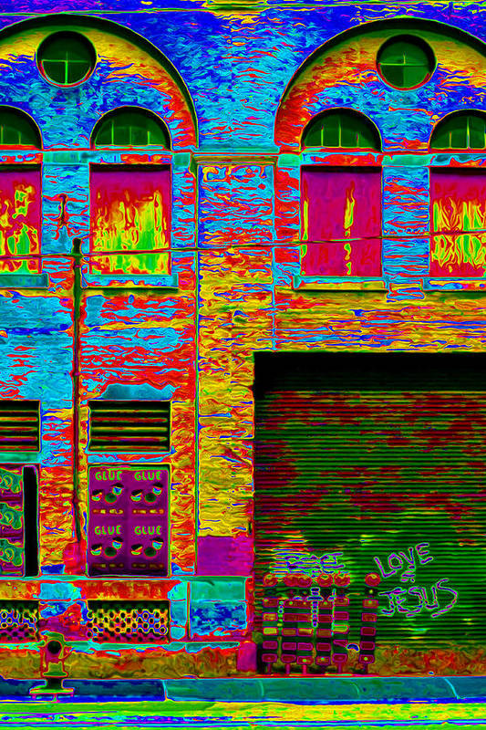 Victorian Industrial Architecture Poster featuring the photograph Psychadelic Architecture by Andrew Fare