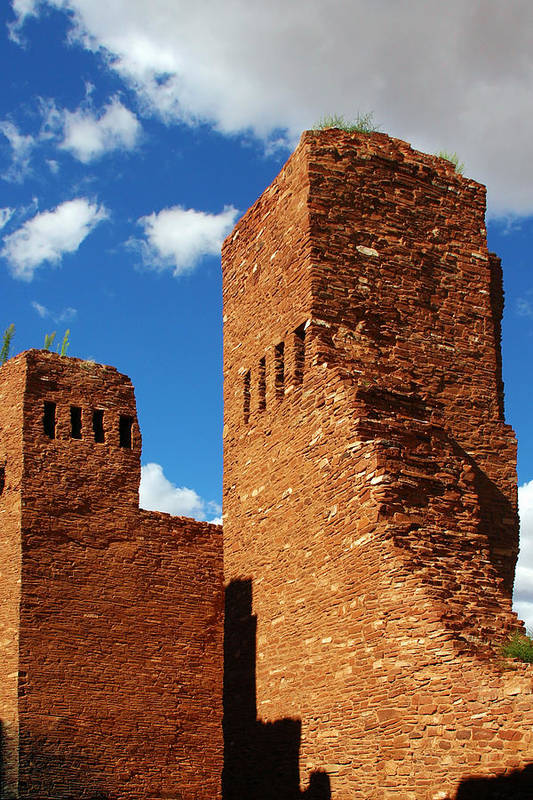 Quarai Poster featuring the photograph Quarai Salinas Pueblo Missions National Monument by Christine Till