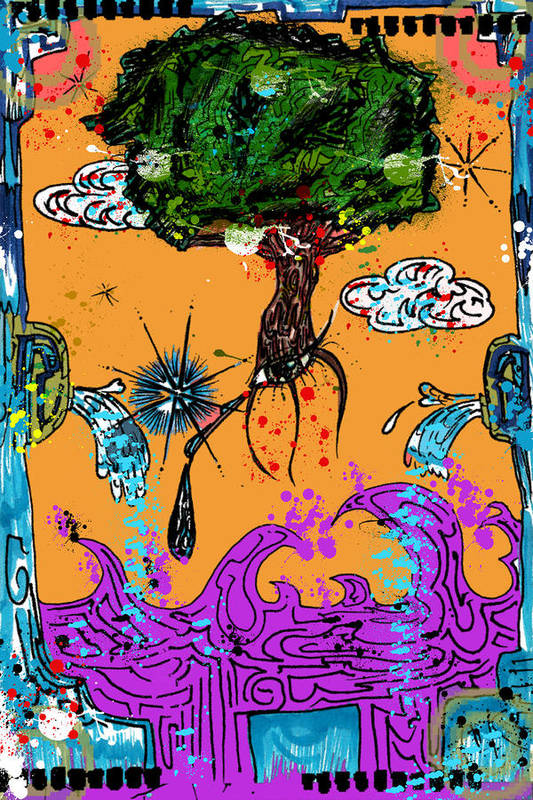 Mixed Media Poster featuring the drawing Rooted Envisionary by Eleigh Koonce
