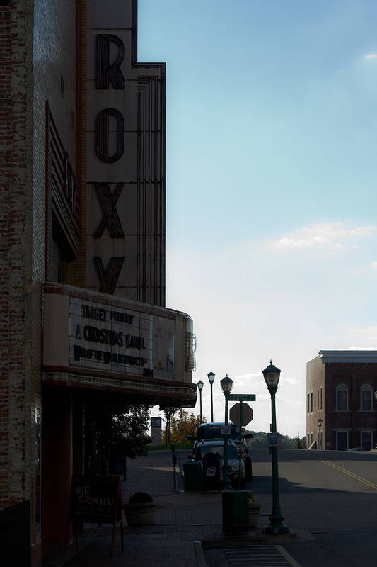 Clarksville Poster featuring the photograph Roxy Regional Theater by Ed Gleichman