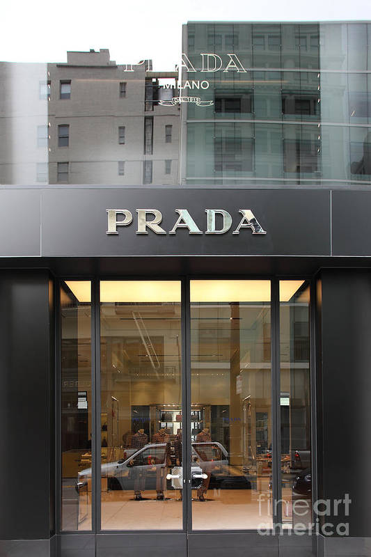 San Francisco Poster featuring the photograph San Francisco - Maiden Lane - Prada Fashion Store - 5d17798 by Wingsdomain Art and Photography