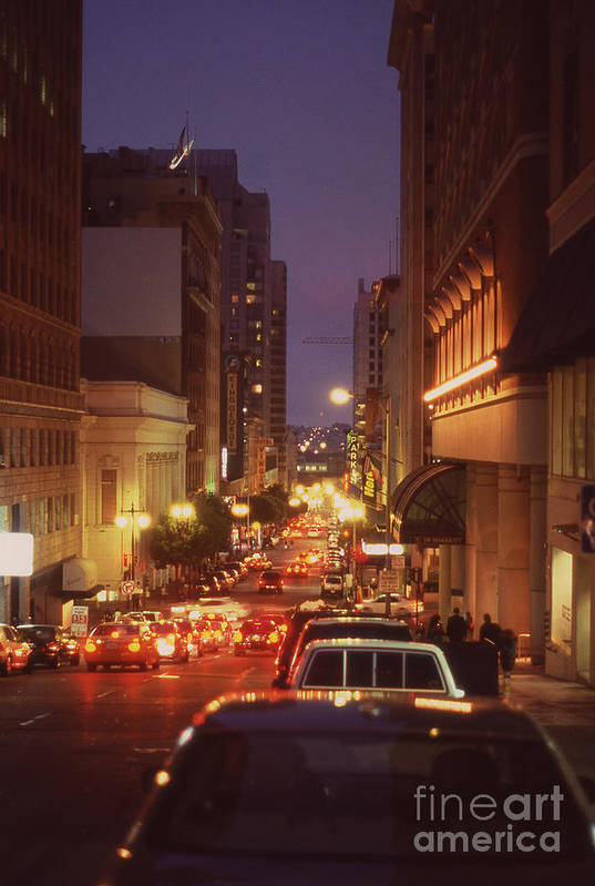 San Francisco Poster featuring the photograph San Francisico Street by Thomas Luca
