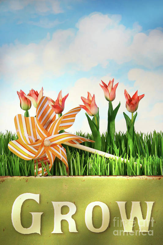 Background Poster featuring the photograph Springtime Fun by Sandra Cunningham
