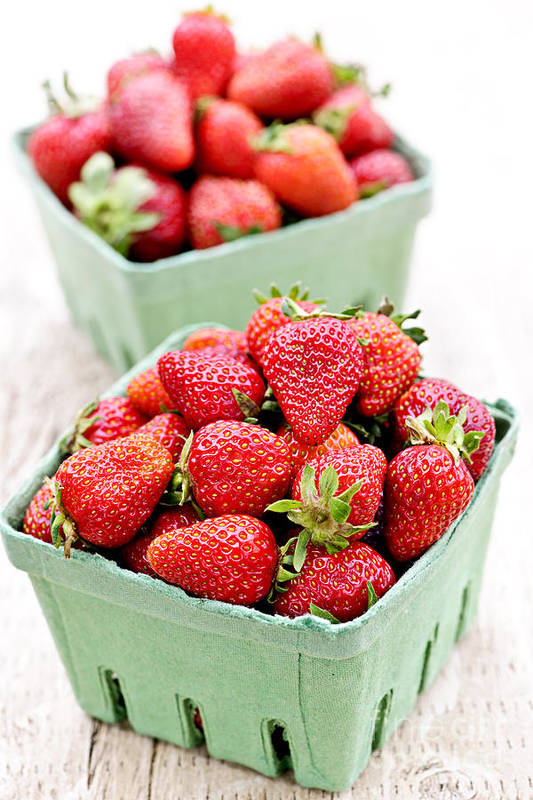 Strawberries Poster featuring the photograph Strawberries by Elena Elisseeva