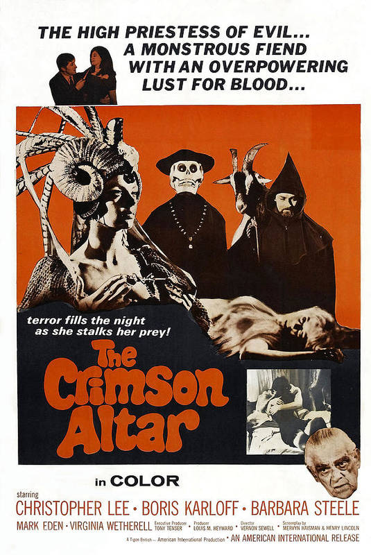 1960s Movies Poster featuring the photograph The Crimson Cult, U.s Title Aka The by Everett