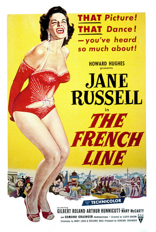 1950s Movies Poster featuring the photograph The French Line, Jane Russell, 1954 by Everett