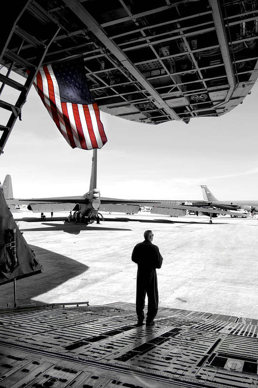 Airshow Poster featuring the photograph Universal Soldier by Greg Fortier