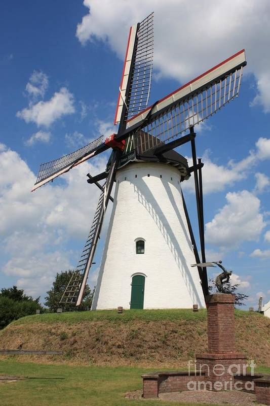 Windmill Poster featuring the photograph Windmill And Blue Sky by Carol Groenen