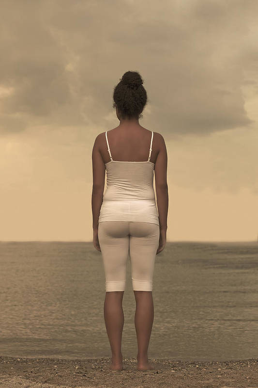 Female Poster featuring the photograph Woman On The Beach by Joana Kruse