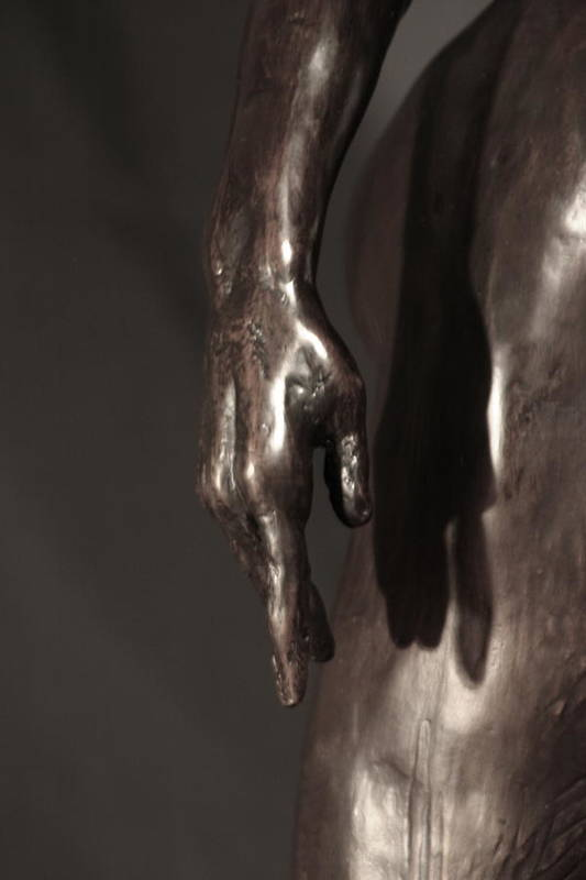 Bronze Sculpture Poster featuring the sculpture Amazing Grace Close Up View by Dan Earle