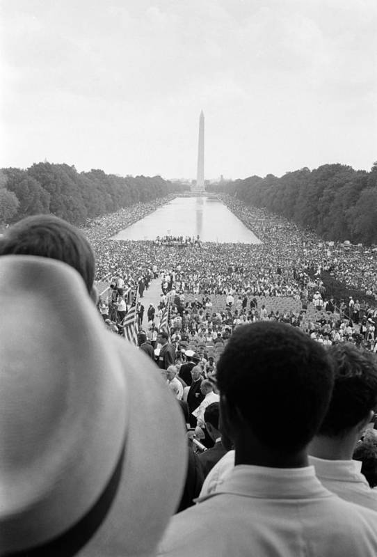 1960s Candids Poster featuring the photograph Civil Rights March On Washington D.c by Everett